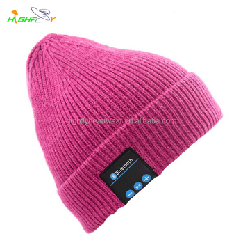 customized plain acrylic bluetooth on cuff beanie knitted hat and cap design  your own beanie boo 7cd2d841e