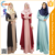 Zakiyyah 021 Beautiful Muslim Kaftan Jalabiya  Girls Photos Robe Colored Abayas