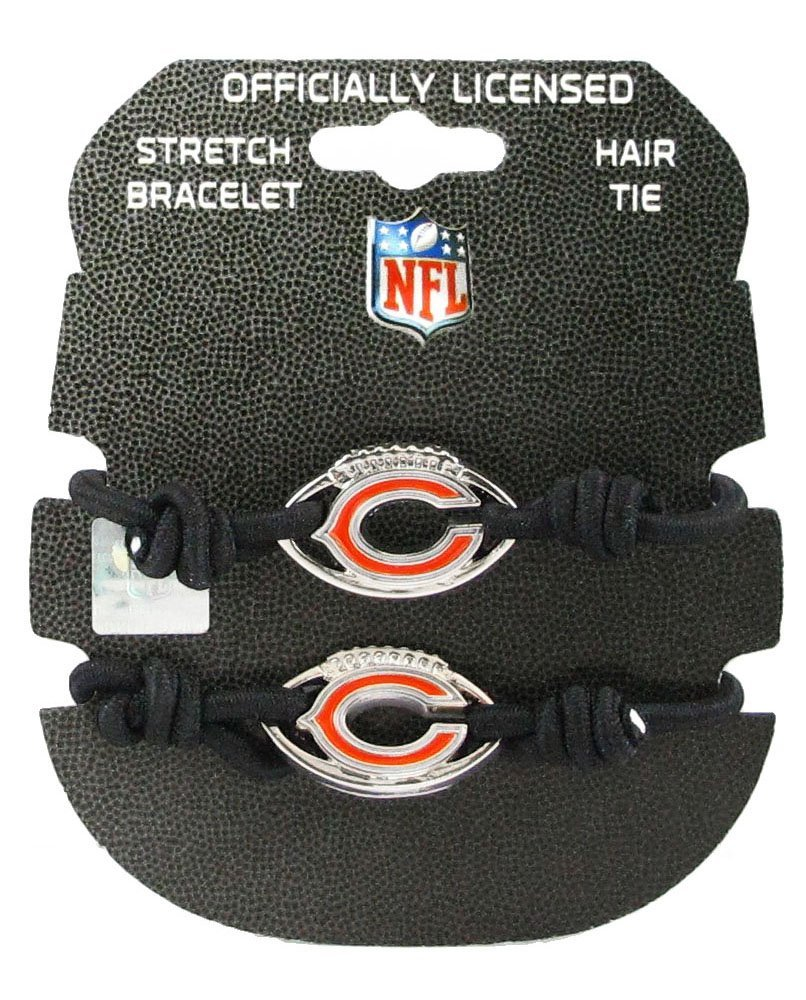NFL Chicago Bears Stretch Bracelet & Hair Tie, 2-Pack
