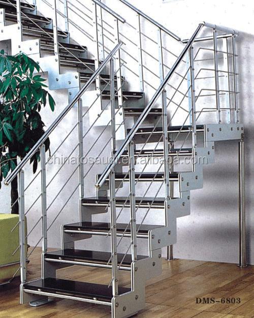 Great Modern Design Decorative Wood Aluminum Staircase Railing Balustrade 0301