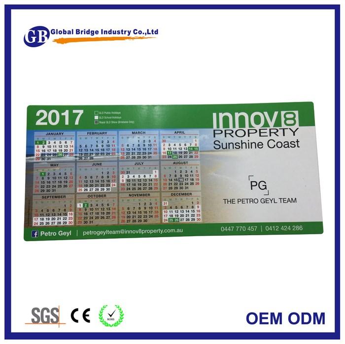 australia business card paper calendar fridge magnet for real estate