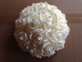 Wedding Decor Table Centerpiece Foam Rose Flower Ball - Buy Table ...