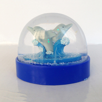 High Quality The Dolphins Model China Snow Globe