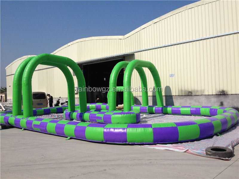 Inflatable zorb ball race&car track ,inflatable air tumble track,Inflatable Go Kart Track