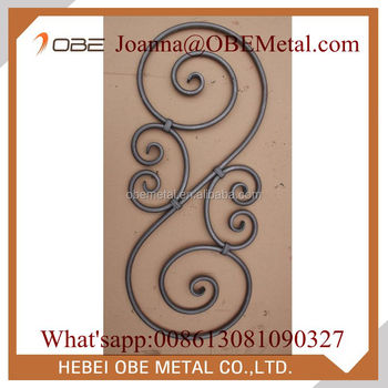 Decorative Wrought Iron Scroll Panels For Indoor Stair Railing,Deck  Railing,Porch Railing - Buy Wrought Iron Scroll Panels,Wrought Iron Stair  Railing