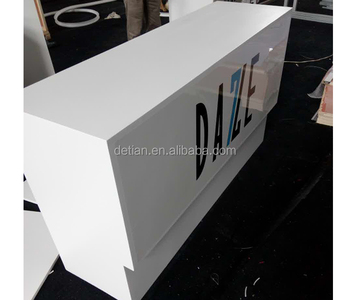 Used Trade Show Booth : Used trade show booths wood material counter with painting