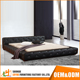new arrival luxury genuine leather crystal buttons bed upholstered modern design wood double bed designs