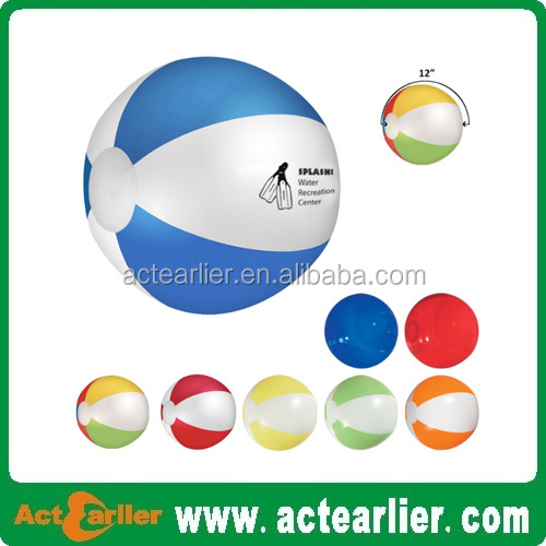 "12"" clear pvc inflatable emoji beach ball"