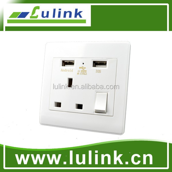 euro usb wall socket 220v/universal USB wall socket