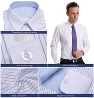 2017 Lasest Design Men's Business Shirt, Stripe Business Shirt Factory Directly
