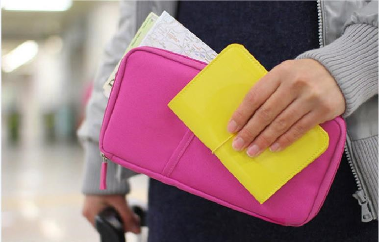 Simple multifunction long paragraph passport travel ticket holder