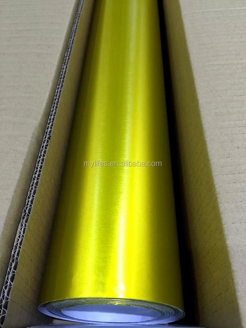 Chrome Metallic Brushed Aluminum Satin 3m Car Wrapping