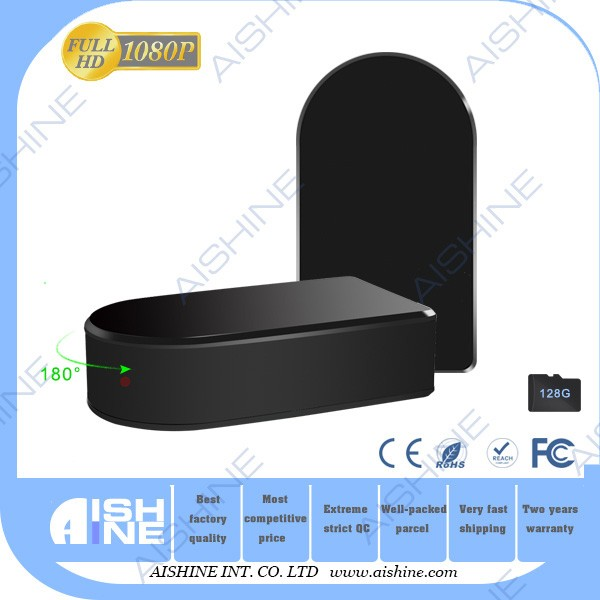 1080P P2P Wifi Black Box Camera/ Pan Zoom motion detection cam with 5000mA 10 hours working time support