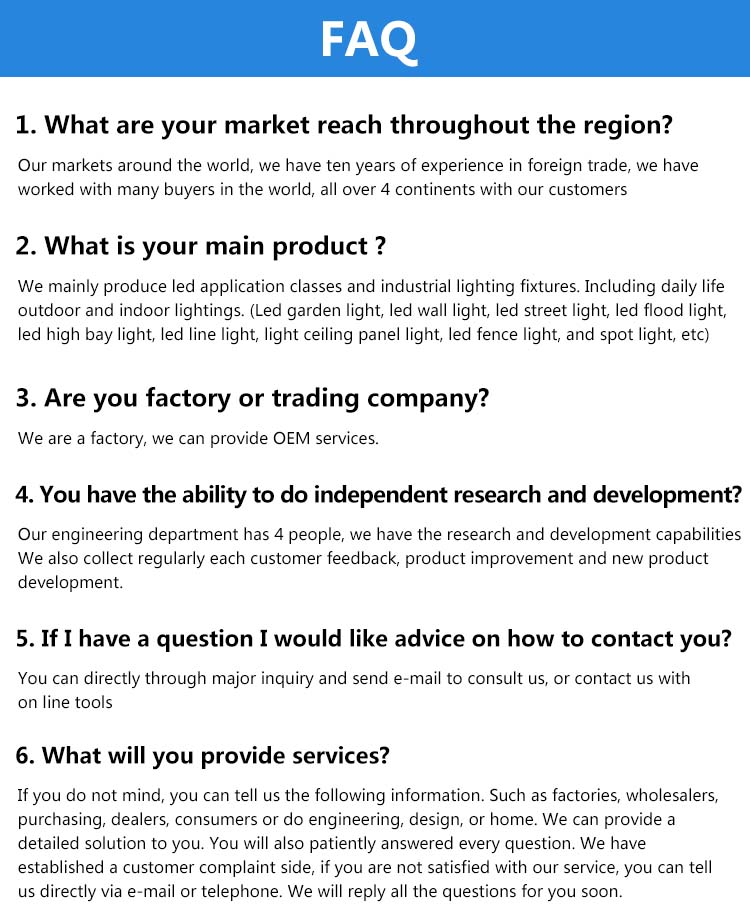 8 FAQ
