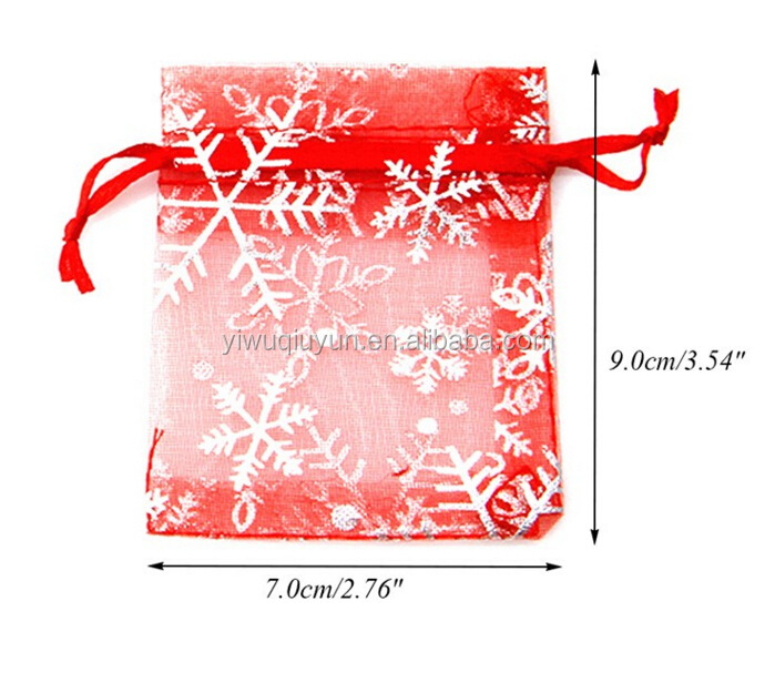 7*9cm Sheer Drawstring Organza Jewelry Pouches Wedding Party Christmas Favor Gift Bags