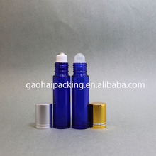 10ml glass roll on bottles with glass roller ball glass vial