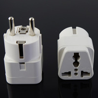 Universal Travel Power Plug AU UK US to EU AC Power Socket Plug Travel Charger Adapter Converter 10A White europlug type C