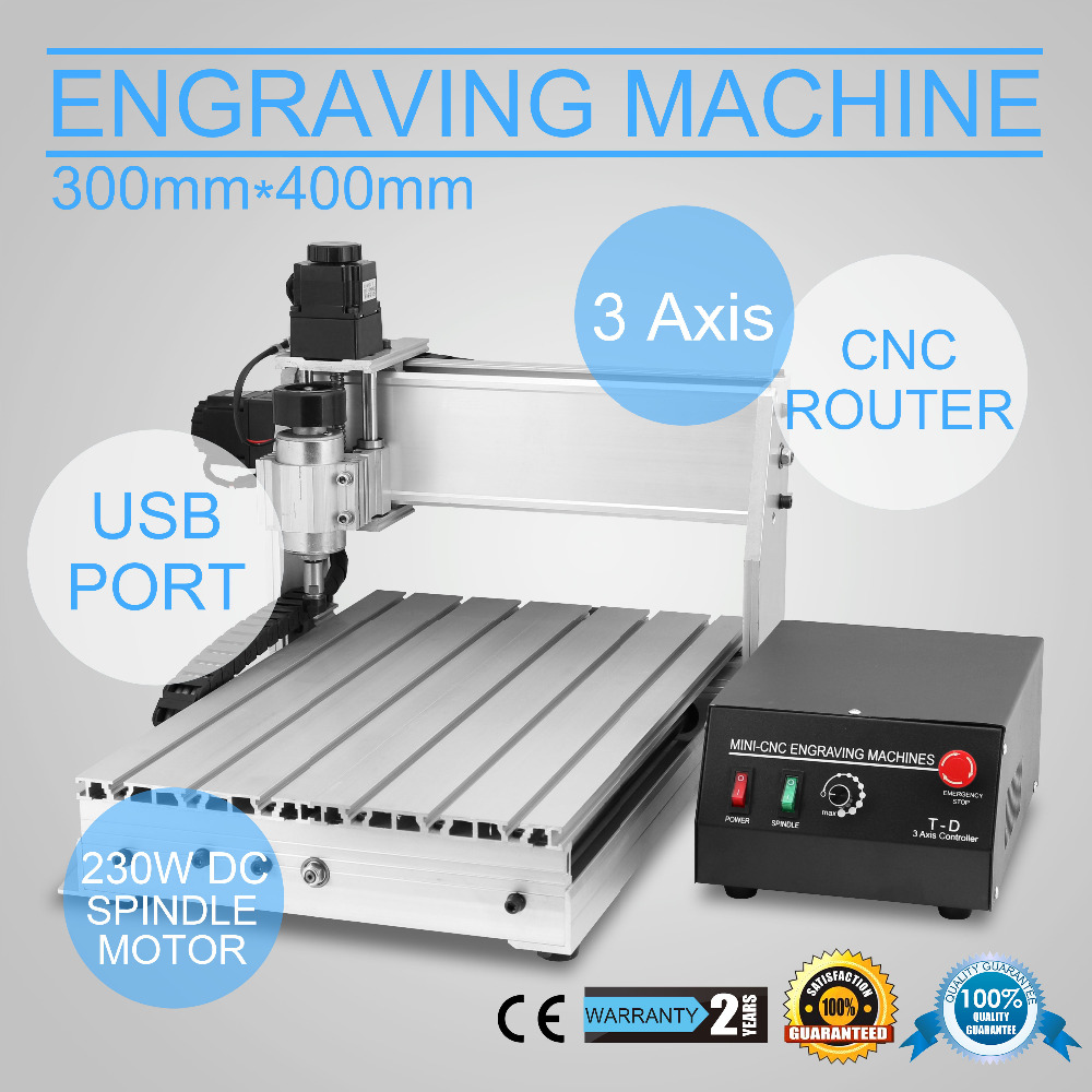 Updated New <strong>CNC</strong> 3040T Router Engraver/Engraving Drilling and Milling Machine 3Axis Carving cutting tool