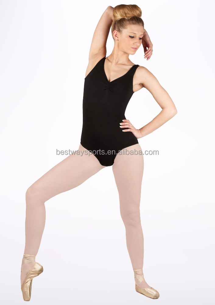 Women's Slim Solid Halter Leotard black