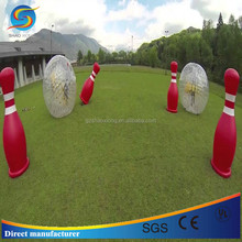 PVC Newest model inflatable zorbing ball used for outdoor bowling game