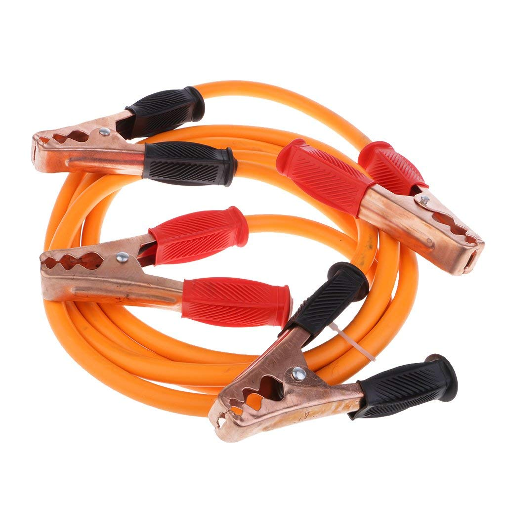 Baosity Universal Car Battery Jumper Cable Emergency Lead Copper Clip 2 Meter Cord