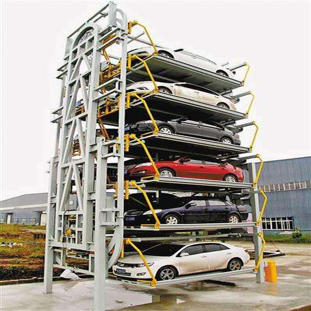 latest style 7 tier vertical cycle intelligence mechanical parking equipment car parking