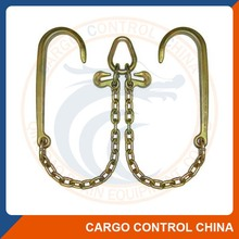 box3061 CHAIN V Bridle Tow Chain tow bridle chain with long J hook