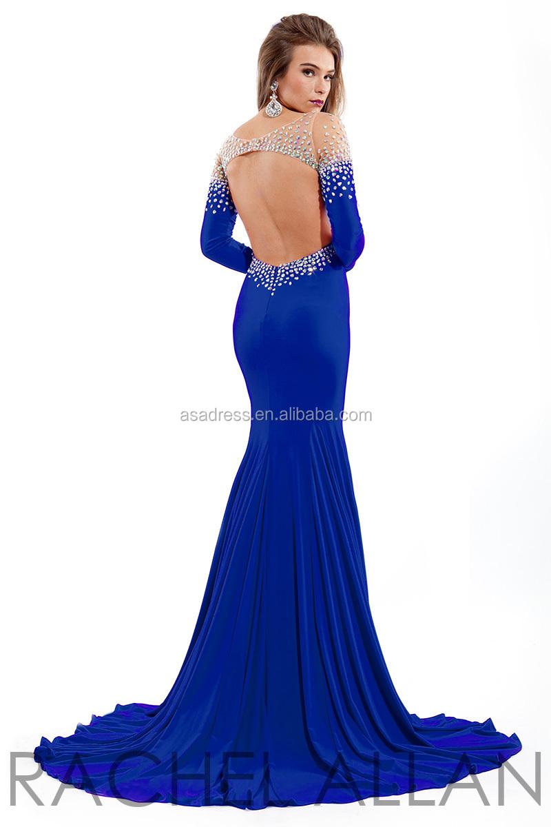 Latest Design Formal Evening Gown royal blue Long Formal Dresses ...