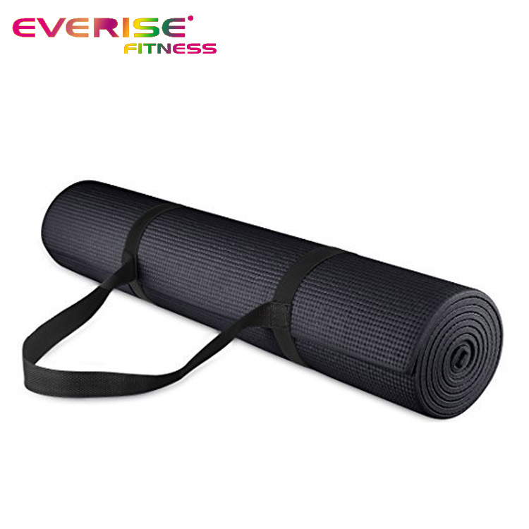 Eco Label Private High Density Custom Size Black Yoga Mat