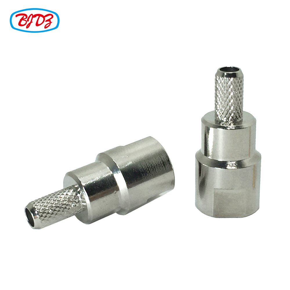 RF Pigtail Connector FME Male Plug Crimp Connector For Low Loss LMR195 Coax Cable