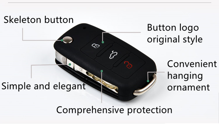 Comprehensive protection vw car key silicone case for Volkswagen POLO Santana
