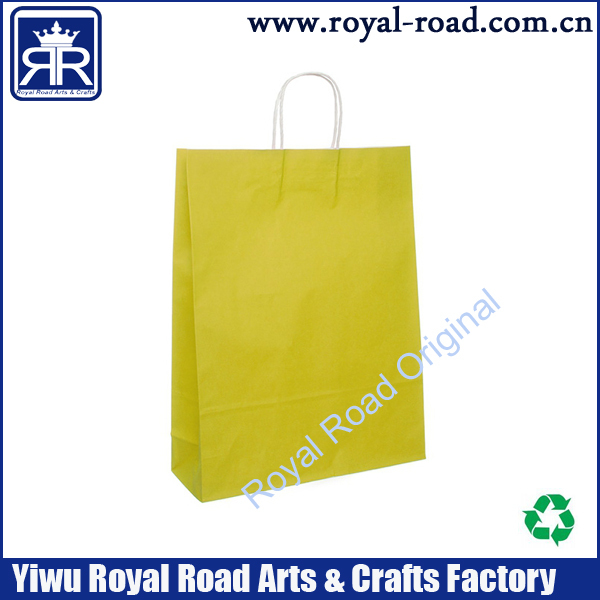 2015 China Wholesale custom offset printing kraft Paper Shopping bag from Zhangjiagang