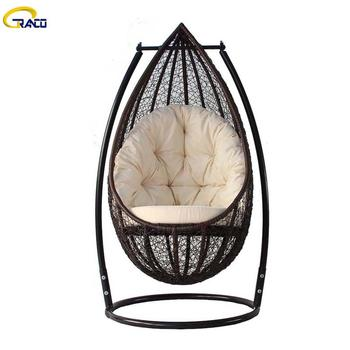 Hot-selling patio/indoor rattan wicker swing chair