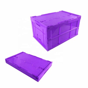 Plastic Foldable Solid Storage Large Moving Container Crate Bin