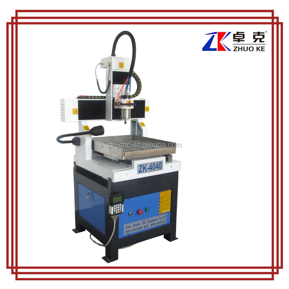 DSP controller A11E Metal sign making machine with working table moving ZK-4040 400*400mm