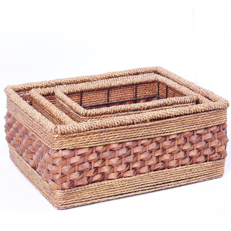 Top Selling High Quality Popular Wooden Moroccan Basket Palm