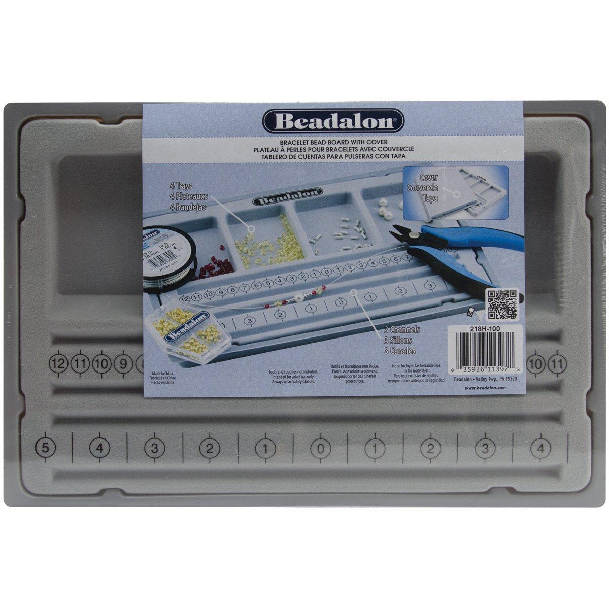 Beadalon 218H-100 Bracelet Bead Board with Cover