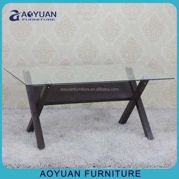 X Form Beine Metall Glas Couchtisch Fur Wohnzimmer Buy X Bein