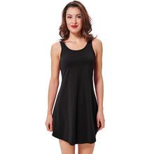 529984f6f Kate kasin mujeres Verano de cuello redondo sin mangas flojo del vestido  del tanque del oscilación