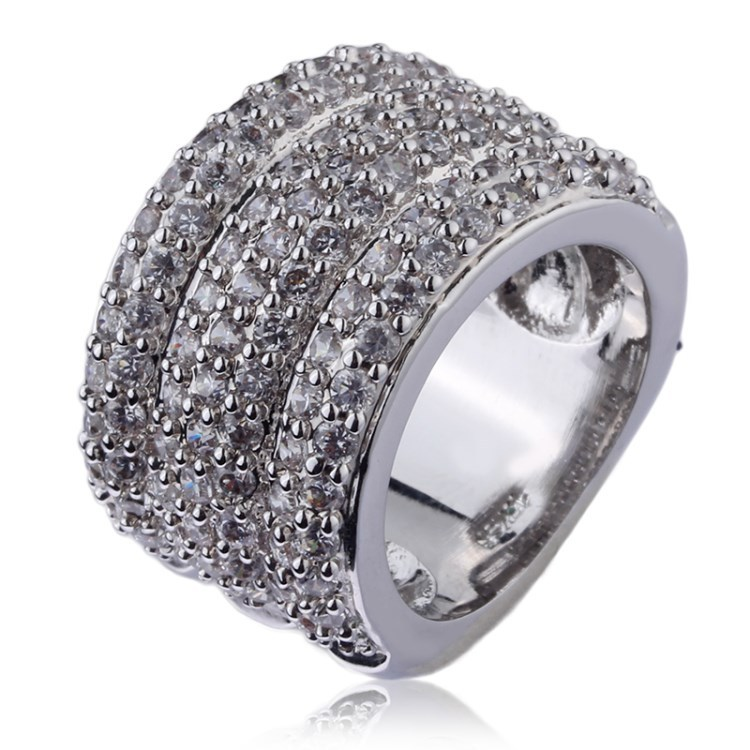 Factory wholesale zinc alloy gold plating fancy crystal rhinestone sample wedding ring designs