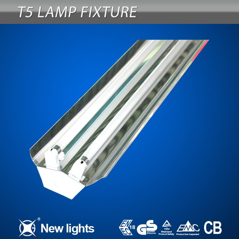 High quality 2x18w 2x28w two tube t5 fluorescent lamp fitting