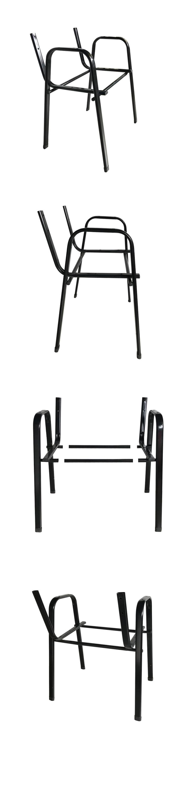 Hardware furniture parts student visitor black iron metal chair frame, View  chair frame, Genal Product Details from Foshan Genal Furniture Co., Ltd.