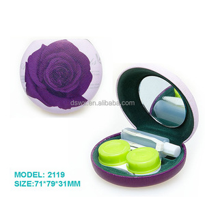 Contact Lens Case Travel Kit Mirror
