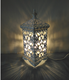 Smaller classic table lamp white finish with clear beads colour butterfly pattern