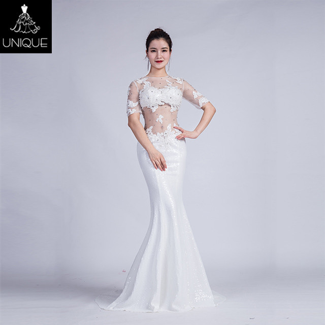 Buy Cheap China white long sleeve long evening dress Products, Find ...