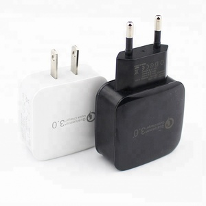 2018 New Products Mobile Phone Charger Adapter QC3.0 USB Wall Charger for iPhone for Samsung