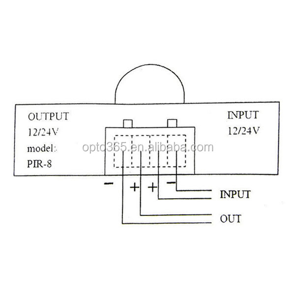 infrared detection sensor switch controller for led