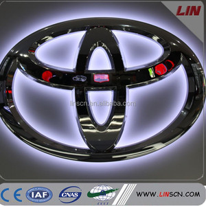 High quality ABS Illuminated Injection Molding Chrome Car Accessories Logo