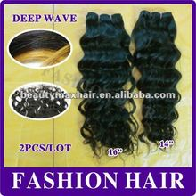 2012 No chemical processed remy hair deep wave malaysian hair #1