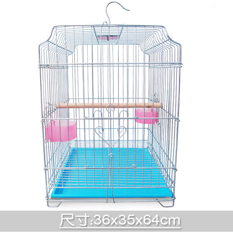 Colorful New High Quality Overstriking Iron Big Bird Cages Pet Cages